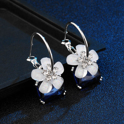 Flower Gift Box Bridal Party Necklace and Earring Set