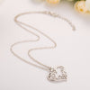 Mom Heart Wireframe Necklace