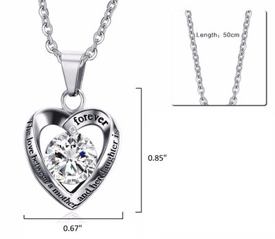 Mother Love for Daughter Stainless Steel Necklace