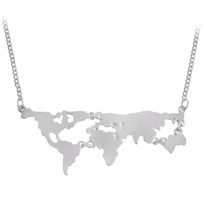 Teacher Map Necklace