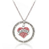 Teacher Heart Crystal Necklace