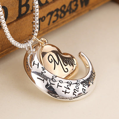 Mom Moon and Back Necklace