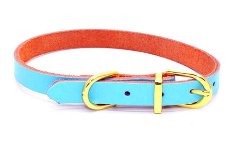 dogestyles-sky-blue-leather-dog-collar