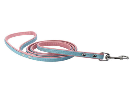 dogestyles-blue-and-pink-leather-dog-leash