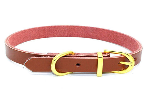 dogestyles-brown-leather-dog-collar