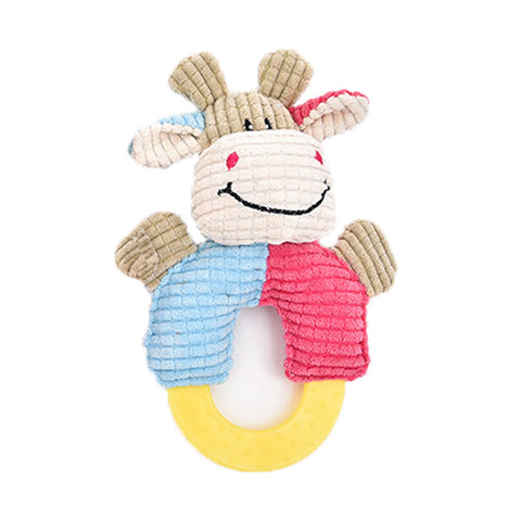 dogestyles-plush-cow-ring-body-dog-toy-front