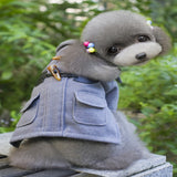 dogestyles-grey-duffel-dog-jacket-back