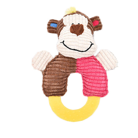 dogestyles-plush-monkey-ring-body-dog-toy-front