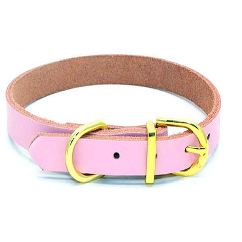 dogestyles-pink-leather-dog-collar
