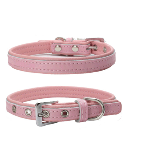 dogestyles-pink-and-pink-leather-dog-collar