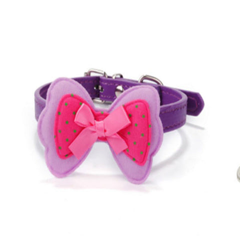 dogestyles-purple-bow-pu-dog-collar