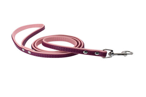 dogestyles-purple-and-pink-leather-dog-leash