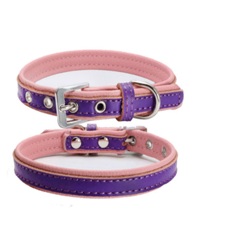 dogestyles-purple-and-pink-leather-dog-collar