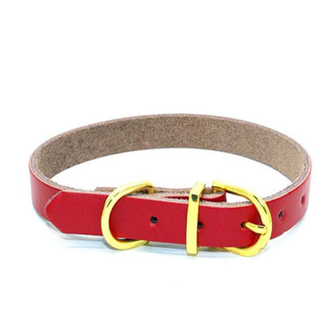 dogestyles-red-leather-dog-collar