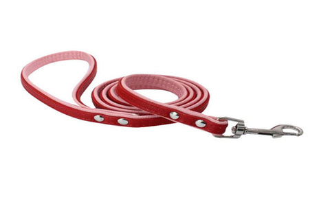 dogestyles-red-and-pink-leather-dog-leash