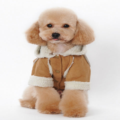 dogestyles-tan-fleeced-dog-jacket-front