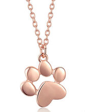 Footprint dog cat paw print foot necklace