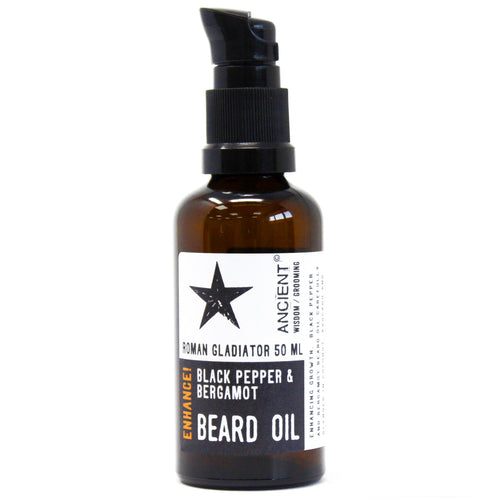 50ml Beard Oil - Black Pepper and Bergamot