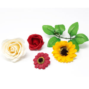 10x Craft Soap Flowers - Lrg Rose