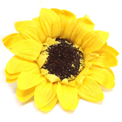 10x Craft Soap Flowers - Lrg Sunflower