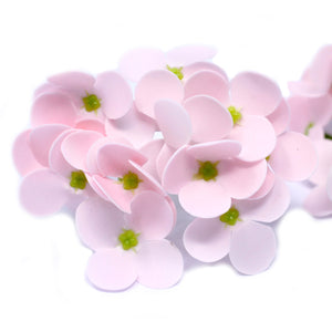 10x Craft Soap Flowers - Hyacinth Bean