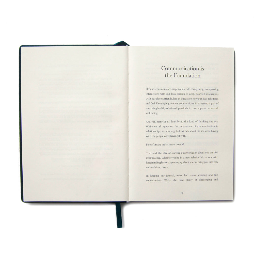 Opening pages of A Sex Journal, a book for couples.