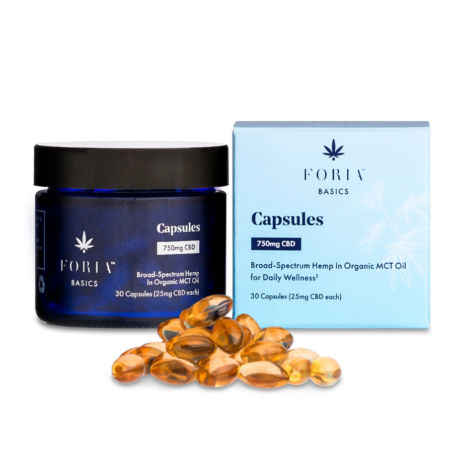 Wellness Gel Capsules with CBD - Foria - The Bloomi