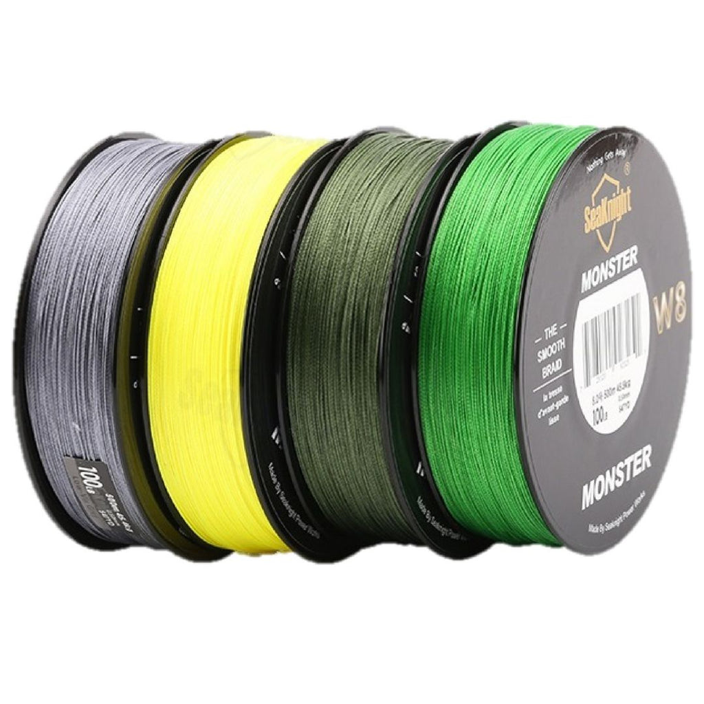 8 Strand Braid Fishing line With multiple colors