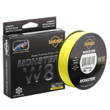 Yellow 8 Strand Braid Fishing line