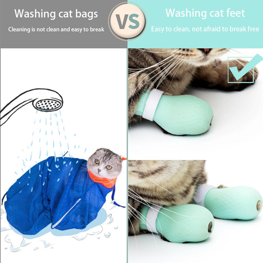 Soft Kitty Bathing Paw Protecting Shoes