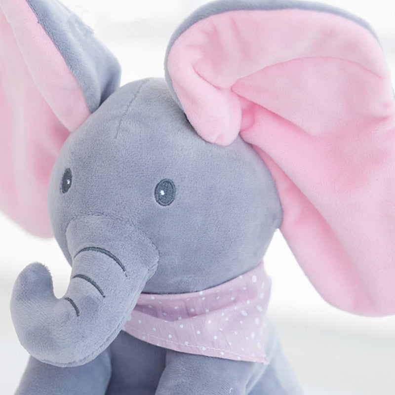 Jimmy The Elephant Peekaboo Interactive Singing Plush Doll