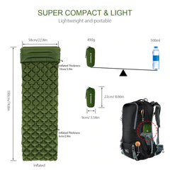 CampingComfort™ Compact Inflatable Sleeping Mat