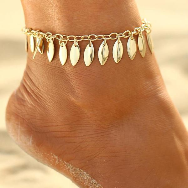 Bijoux Golden Leaves Anklet