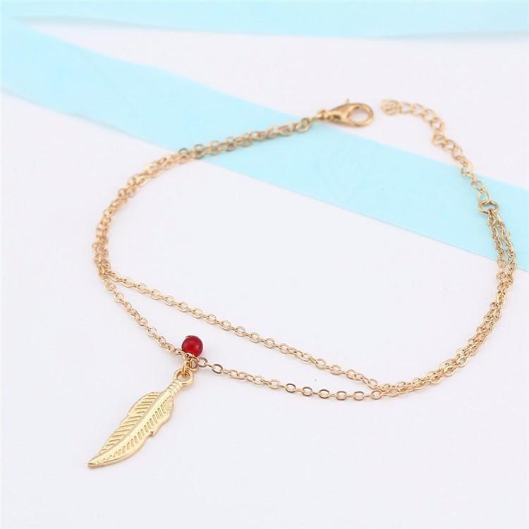 Feather Luck Charm Anklet