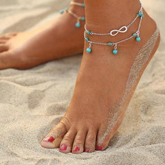 Summer Sky Infinity Charm Anklet