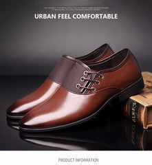 English Lace-Up Leather Dress Shoes (Light Brown)