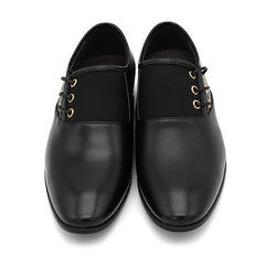 English Lace-Up Leather Dress Shoes (Black)