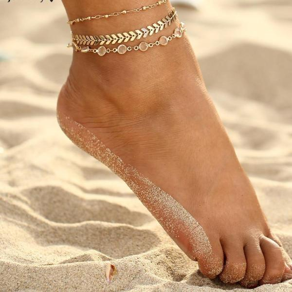 Summer Golden Vintage Queen Anklet