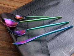 Nostalgic Rainbow Burnt Stainless Steel Cutlery Set