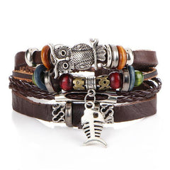 Turkish Boho Leather Stack Bracelet (5 Variants)