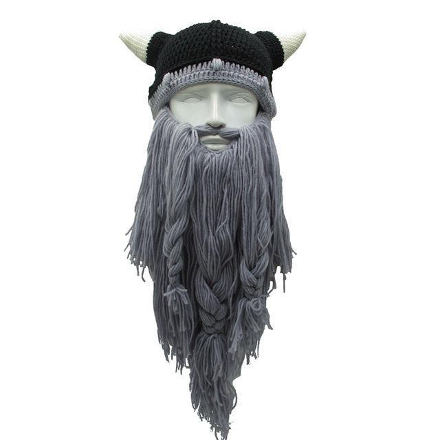 Viking Dwarf Bearded Beanie (Light Grey)