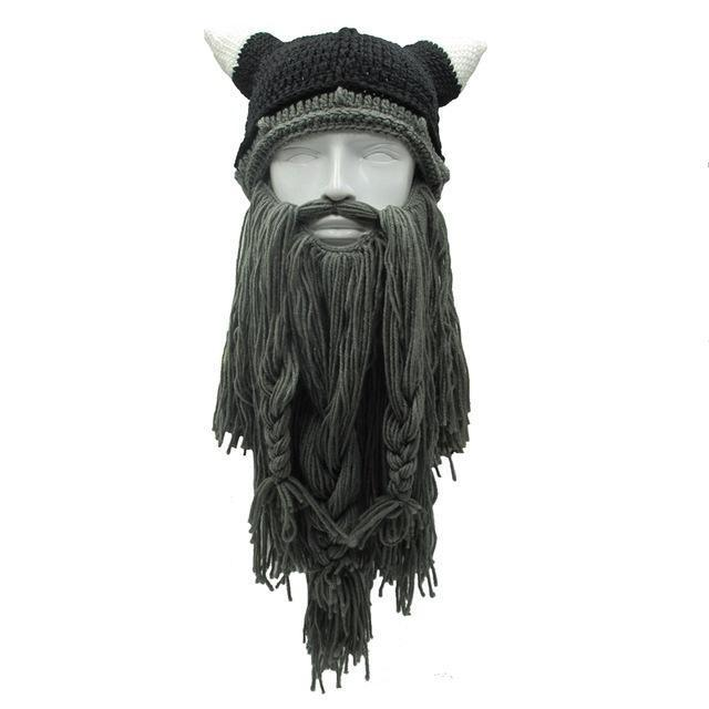 Viking Dwarf Bearded Beanie (Dark Grey)