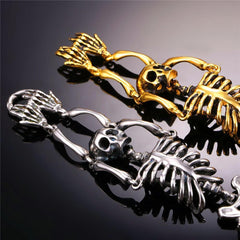 Luxury Golden Slave Skeleton Bracelet