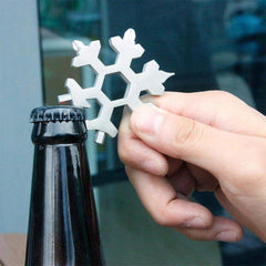 Compact Steel 18-in-1 Multi-Tool Snowflake