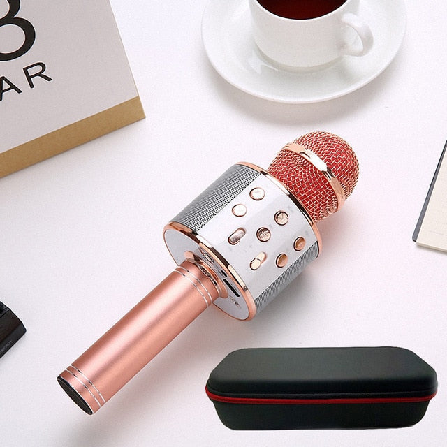 Premium Portable Bluetooth Karaoke Microphone