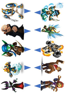 Skylanders Stand Up Cake and Cupcake Toppers, Birthday, Gaming, Xbox, PlayStation, PC