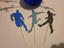 Football Player Cupcake Picks, Team, Sports, Cake and Cupcake Topper, Birthdays