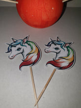 Unicorn Cupcake Picks, Cake Toppers, Birthdays, Rainbow, Children, Non Edible