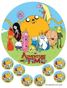 Adventure Time cake and Cupcake toppers, Jake the Dog, Finn the Human