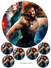 Aqua Man Cake and Cupcake Toppers, Wonder Woman, The Flash, Justice league, DC Comics